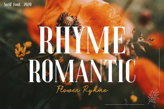 Flower Rhyme - Romantic Serif by yipianesia