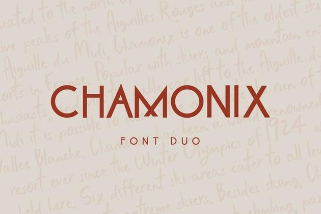 Chamonix Font Duo by thinkmake