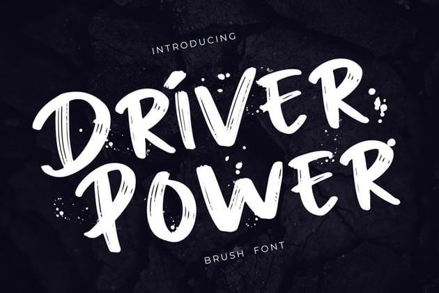 Driver Power Brush Grunge Font by giantdesign