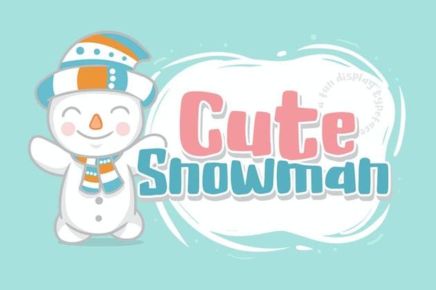 Cute Snowman font by khurasan