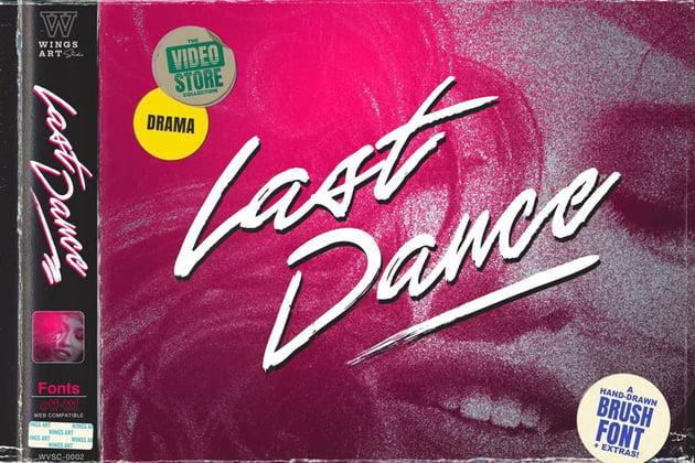 Last Dance - An 80s Inspired Movie Script Font by wingsart