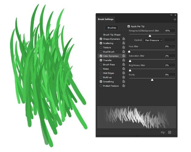 photoshop color dynamics