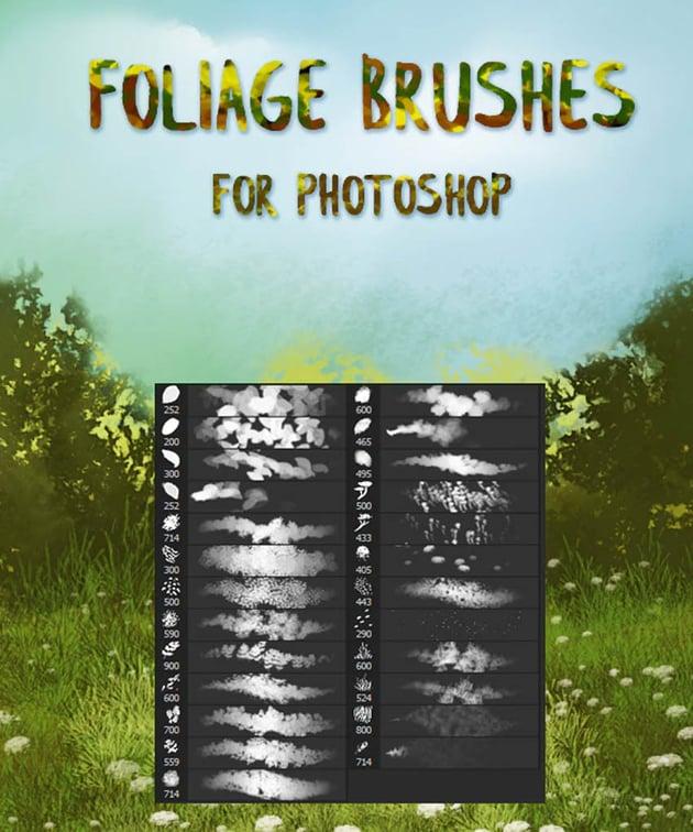 foliage brushes photoshop