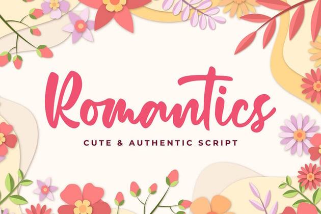 Romantics Cute Script Cricut Font