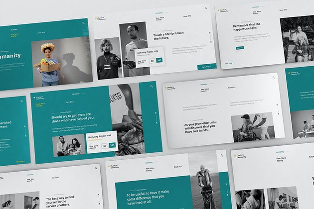 Social Humanity Powerpoint Presentation Template