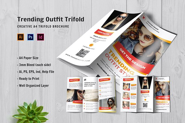 Trending Outfit Style Trifold Brochure