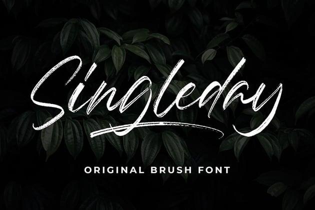 script brush font