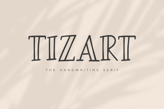 serif handwriting font