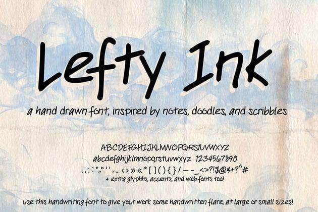 Ink handwriting font