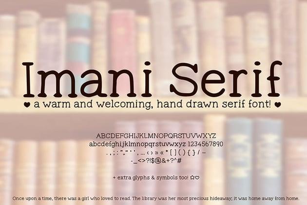 Serif Cute Handwriting Font
