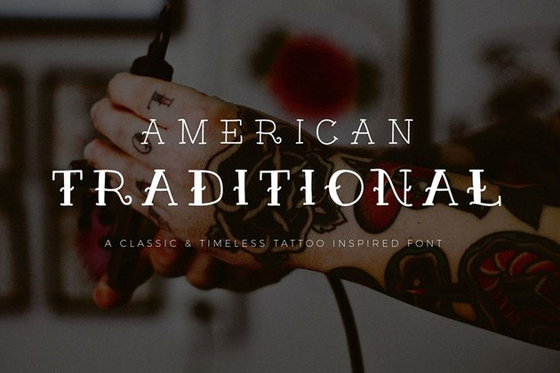 American Traditional Tattoo Inspired Font