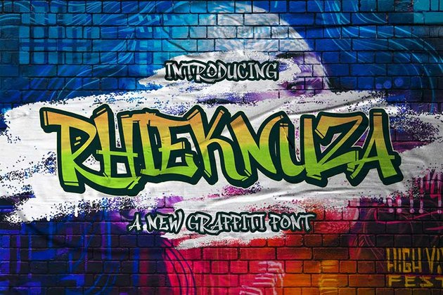 Rhieknuza - Graffiti Font