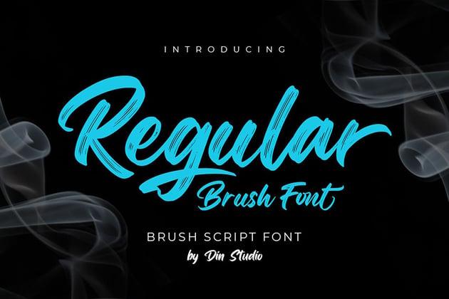 Regular Brush-Elegant Brush Font