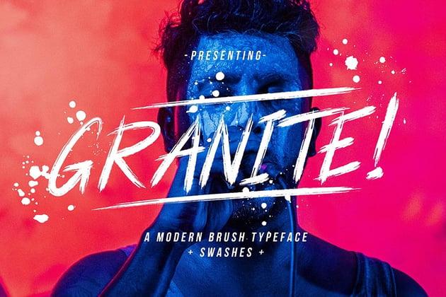 Granite Brush Font