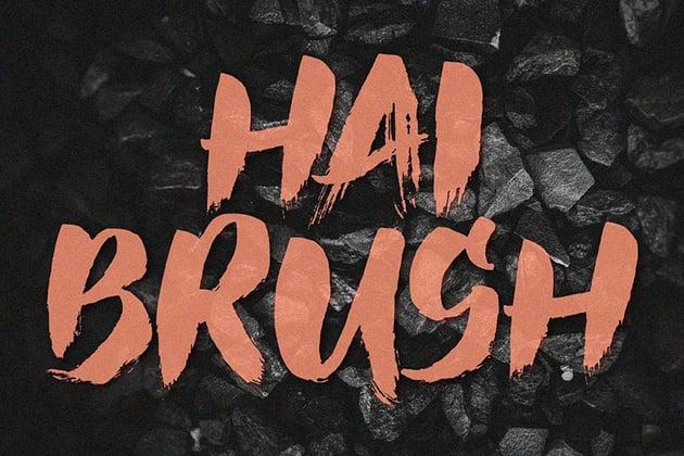 Hai Brush Font