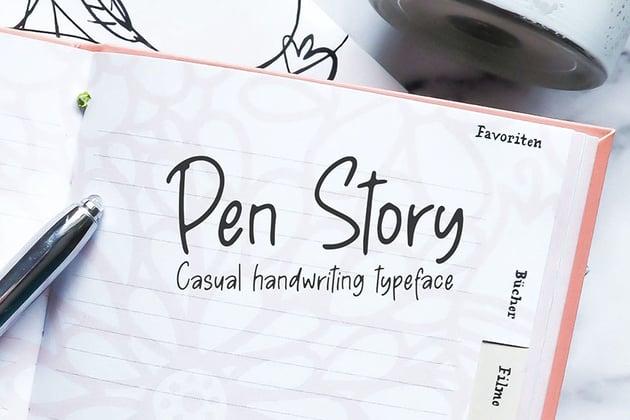 Pen Story - Casual Handwriting