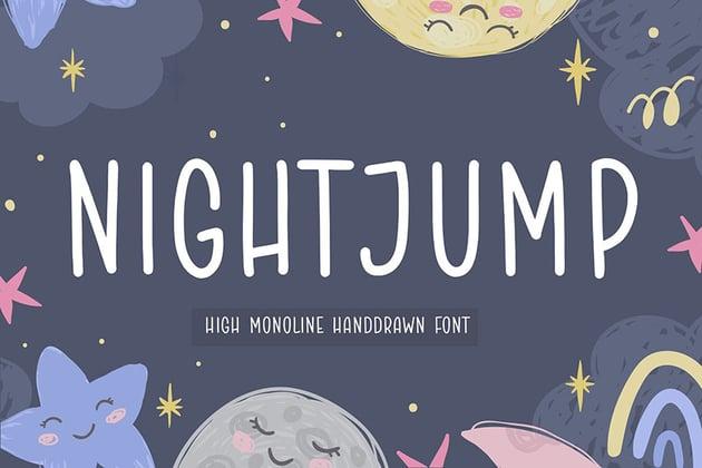 Nightjump Handwriting Font