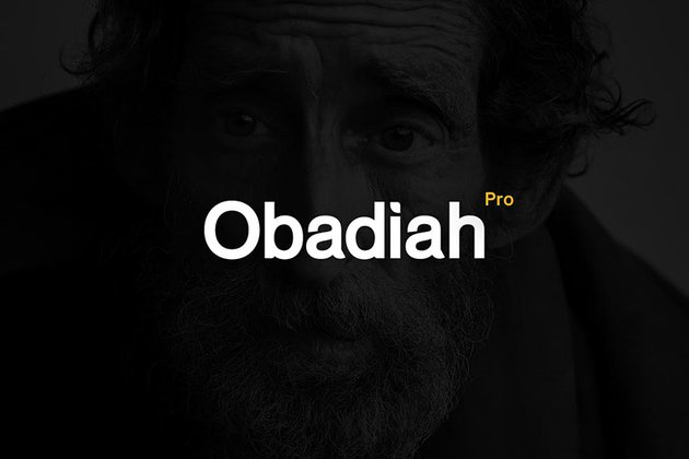 Obadiah pro - Modern Typeface + WebFont