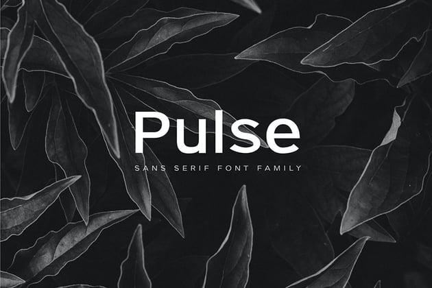 Pulse - A Modern Sans-Serif Typeface