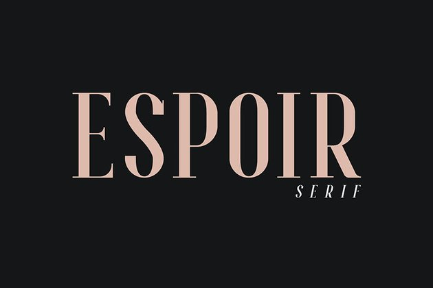 Espoir Serif - Font Family