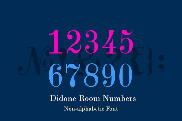 Didone Room Numbers Display Font Family