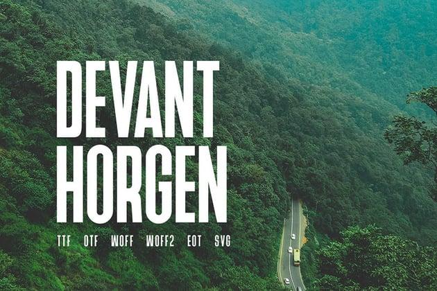 Devant Horgen - Modern Typeface + WebFont