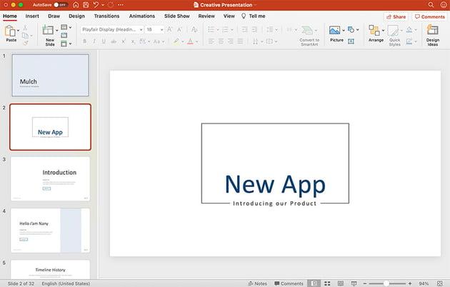 Creative Presentation Slide