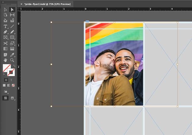 indesign resize image