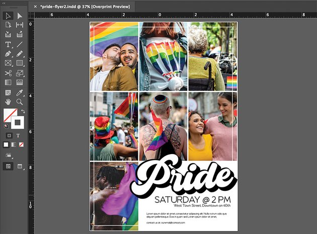 indesign placing images into layout