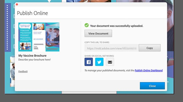 indesign publish online