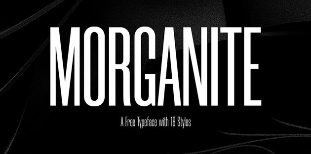 Morganite Free Typeface