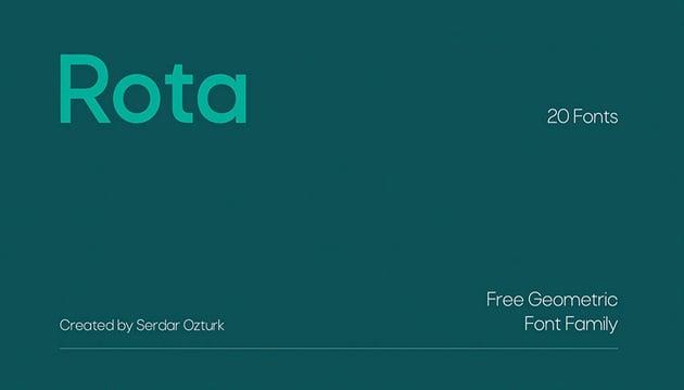 Rota Free Sans Serif Font Family