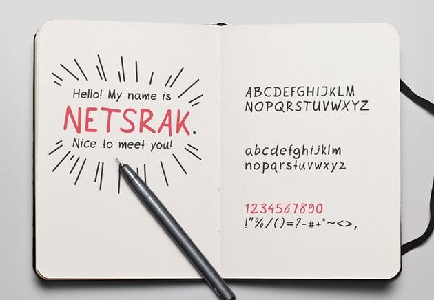 Netsrak free font