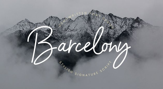 Barcelony Free Script Font (Personal Use)