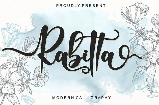 Rabitta Modern Calligraphy Font (Personal Use)