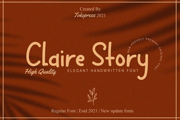 Claire Story - Handwriting Font