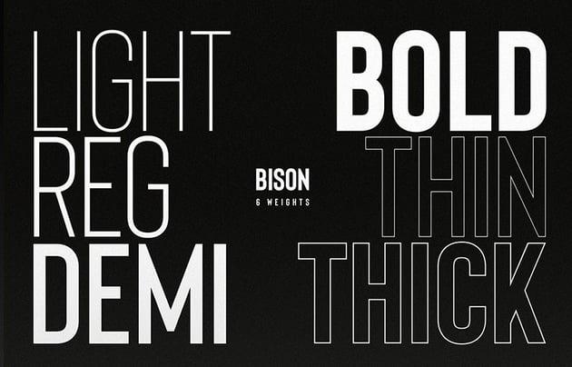 bison sans serif font family