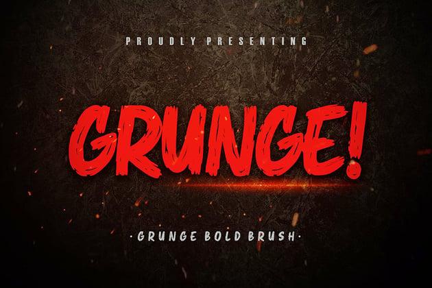 Grunge! Bold Brush Typeface