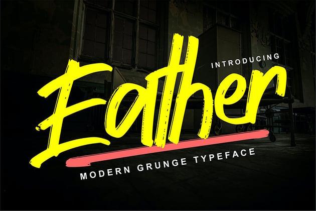 Eather | Modern Grunge Typeface