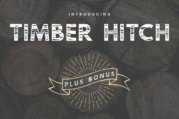 Timber Hitch Font + Bonus Nature Elements