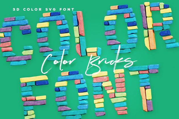 Color Bricks - Color SVG Font