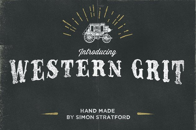 Western Grit Distressed Font