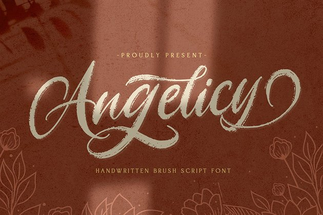 Angelicy Textured Script Font