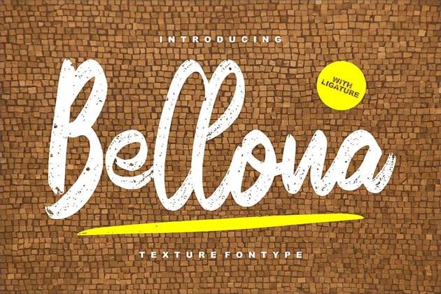 Bellona Textured Script Font