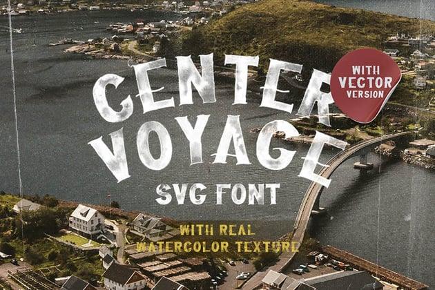 Center Voyage - SVG Watercolor Font