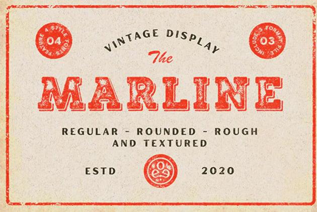 Marline - Vintage Texture Font