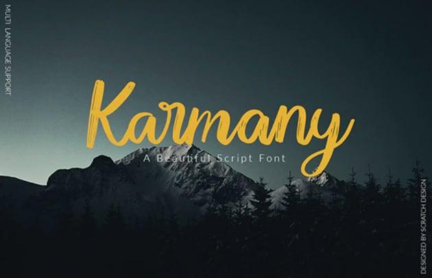 Karmany Brush Texture Font