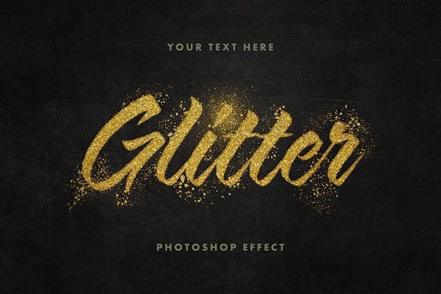 Glitter Gold Texture Font Text Effect