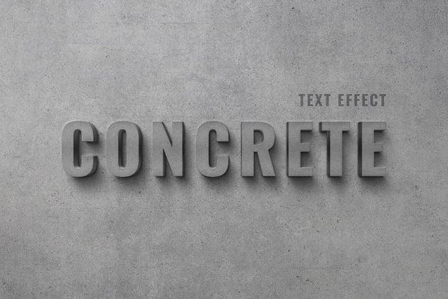 Concrete Texture Road Font Text Effect