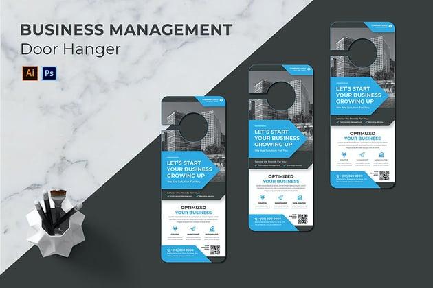 Business Management Door Hanger